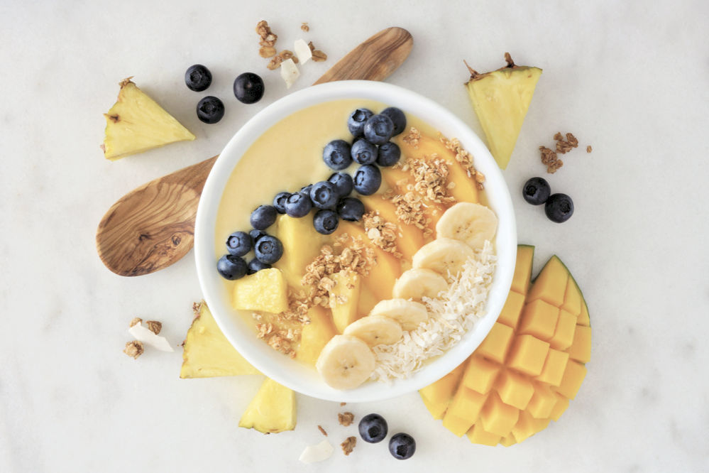 Tropical Peach & Pineapple Smoothie Bowl